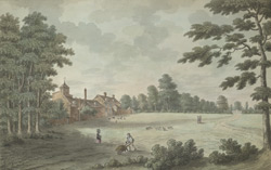 The north view of Hopwas Hayes Lodge in Staffordshire, 1786
